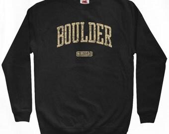 Boulder Colorado Sweatshirt - Men S M L XL 2x 3x - Crewneck - 4 Colors