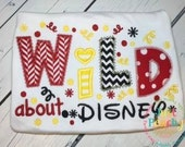 Wild About Disney Machine Embroidery Applique Design Buy 5 for 8! Use Coupon Code SUMMERFUN