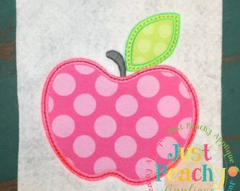 Simple Apple Machine Embroidery Applique Design Buy 2 for 4! Use Coupon Code 50OFF