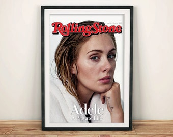ADELE MAGAZINE POSTER: Pop Star Cover Art Print Wall Hanging