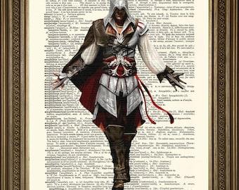 "ASSASSINS CREED ART: Gamer Dictionary Print Wall Hanging (8 x 10"")"