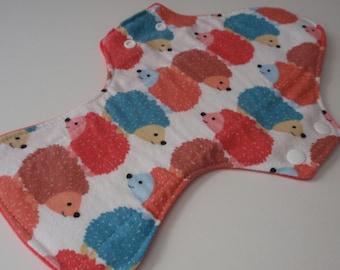 "Reusable Cloth Pad 13"" Stacked Hedgies hedgehog Pad"