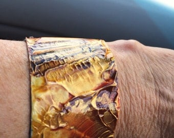 Hand painted cuff bracelet