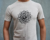 Lotus Flower of life t-shirt / Sacred Geometry Clothing- Mens / Unisex tee - Bamboo and organic Cotton tee / yoga clothes