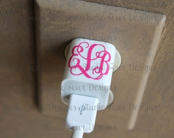 Vinyl Decal Monogram for I - Charger/ Wall Charge Decal