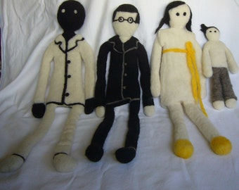 Family & Teacher Wool Felted Art Dolls