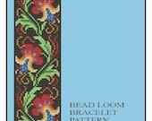 Bead Loom Vintage Floral Border 4 Bracelet Pattern PDF