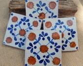 40 Authentic Handmade Mexican Tile  ~  Authentic Mexican Terra Cotta Tile  ~  Handmade Mexican Terra Cotta Tile  ~  4x4 Mexican Tile