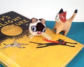 Siamese Cat Catnip Cat Toy - Needle Felted Wool