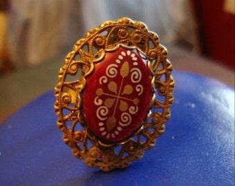 Rare Miriam Haskell Ring