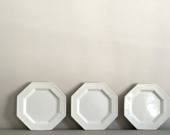 Set of Five Ironstone Plates