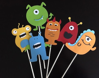 Monster die cuts/centerpieces/banner