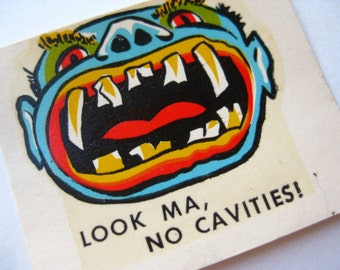 Vintage 60s Ed Roth Weirdo Monster Window Water Decal Transfer