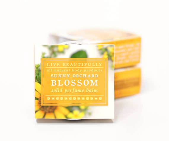 Sunny Orchard Blossom Perfume - All Natural - Sweet Apple, Ripe Orange, Spring Blossoms