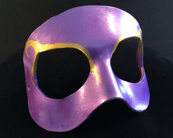 New Years Mardis Gras Mask Purple Clown Mask 5-6 oz Mardi Gras Costume Halloween Mask Court Jester Halloween Costume Masquerade Mask