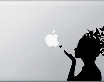MB - Butterfly Girl Vinyl Decal for Macbooks,  Laptops and More...