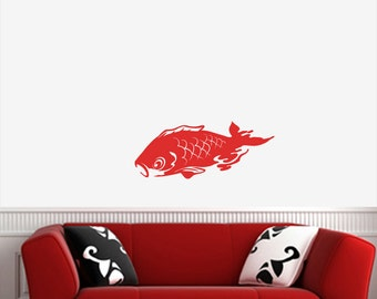 "WALL ~ Koi Swimming - LG - Vinyl Wall Decal YYDC (25""w x 10.5""h) (Color Choices)"