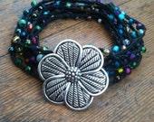 Flower Girl:Versatile crocheted necklace / bracelet / belt / headband