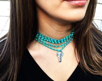 One By One: Versatile crocheted necklace / bracelet / belt / headband