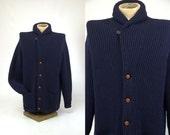 60s Shawl Collar Brooks Brothers Wool Shawl Collared Cardigan Sweater MINT