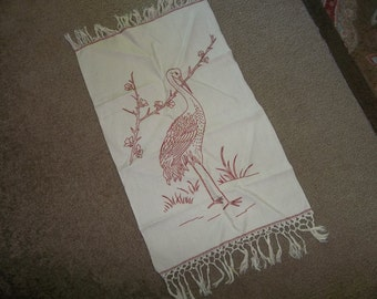 Antique REDWORK Linen Show Towel...Perfect Condition...FREE Shipping