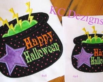 Halloween Cauldren Machine Applique Embroidery Design - 4x4, 5x7 & 6x8