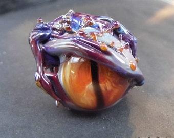 Lampwork  Dragon Eye - Hand Made Glass Dragon's Eye, Glass Dragon's Eye Bead SRAJD FHFTeam