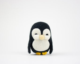 Needle Felted Penguin, Needle Felted Animal, Plush, Felt Animal, Penguin, Penguin Ornament, Wool - Gus