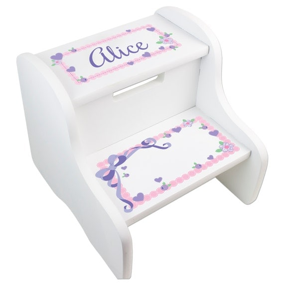Personalized Girl S Step Stool Toddler Two Step By Mybambino