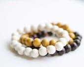Wooden Beaded Bracelet - Choice of one