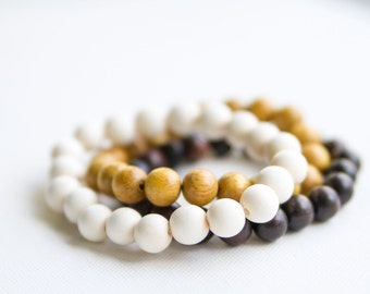 Wooden Beaded Bracelet - Choice of one