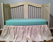 FREE SHIPPING***Cottage Chic Crib Skirt and Fitted Sheet,Cotton  - You Choose the Fabric