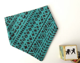 Bandana Bib - Turquoise Tribal