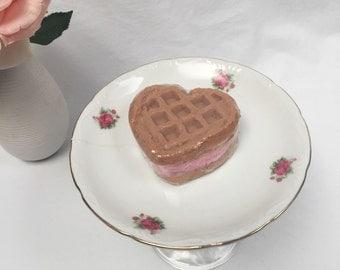 Waffle Heart Soap, Waffle, Heart, Ice Cream Sandwich