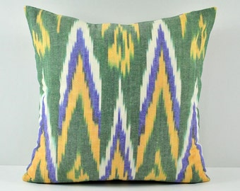 Ikat Pillow, Hand Woven Ikat Pillow Cover,  SPE-103, Ikat throw pillows, Designer pillows, Decorative pillows, Accent pillows
