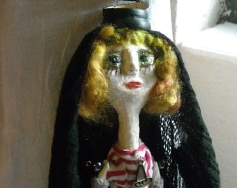 Witch Dolls Handmade Witch Art Doll Halloween Spirit Doll Pagan Wiccan