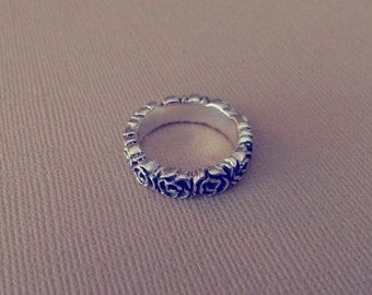 Rose-Sterling Silver Stack Ring