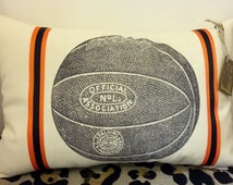 Vintage Basketball Pillow