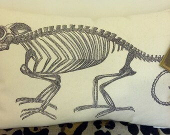 Chameleon Skeleton Pillow