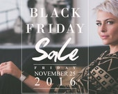 Black Friday Sale Template, Instagram Photoshop Template, Blog Template, Store Graphics, BTO200, INSTANT DOWNLOAD