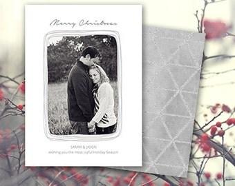 Christmas Card Photoshop Template, Merry Christmas, 5x7 Holiday Card Template for Photographers CC101