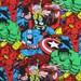 Marvel Comics Super Heros Capt. America,Hulk,Spiderman,Thor etc. Fat Quarter 18'' x 21'' only 3.99
