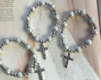 10 Bracelets favors, wedding favors, baptism favors, comunion favors, anniversary favors, religious favors, rosary favors, Tibetan style