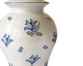 Blue and White Floral Ginger Jar Lamp