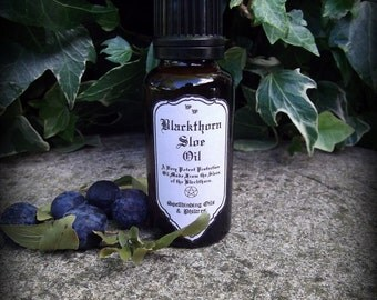 Blackthorn Sloe Oil 25ml: Witchcraft, Druid, Celtic, Magic, Wicca, Pagan