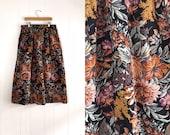 Vintage Floral Print Winter Skirt