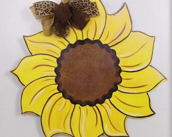 Sunflower Door Hanger, Yellow Flower Door Hanger, Summer Door Hanger, Fall Door Hanger