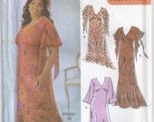 Formal Dress In Two Lengths Optional Ruffle V Neckline Plus Size 26w 28w 30w 32w Sewing Pattern 2004 Khailah Ali Simplicity 5110