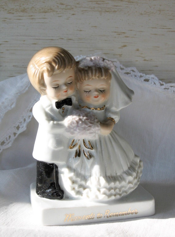 Vintage Wedding Gifts For Bride And Groom : Groom Wedding Figurine,Cake Topper,Bridal Shower,Wedding gift, Vintage ...