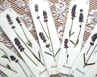 LAVENDER HERB FLOWER Bookmarks - Pressed Purple Lavender Flowers, Natural Handmade Unique Art Collage Bookmark, Bridesmaid, Reading Gift